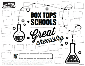 Example #2 of a Box Tops for Education Collection Sheet