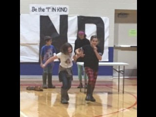Students enjoying Red Ribbon Week activities led by Student Council