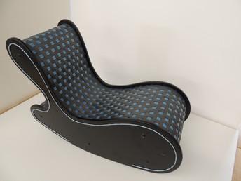 Wavy plastic chair by Nicola Smith.