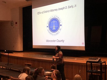 Worcester County's District Attorney's Office Presents To Our 7th & 8th Graders