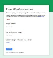 Find the Project Pin Questionnaire on Project Foundry...