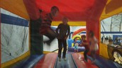 The bouncy houses were a hit