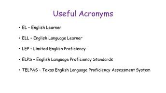 Useful Acronyms