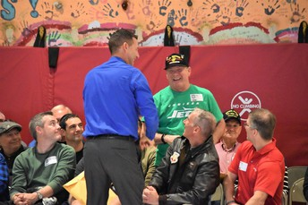 Each Veteran received a JET T-shirt and certificate.
