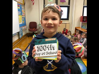 """Kindergarten student Emryk Desphy-Zaidman created a handmade book filled with 100 pictures of monster trucks to demonstrate his """"counting to 100"""" proficiency, as well as his creativity."""