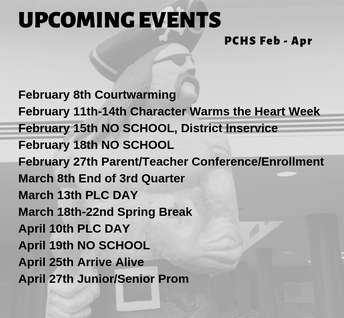 Events Feb. though April