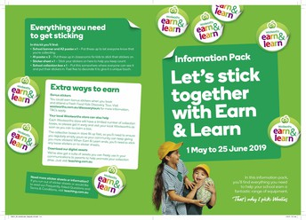 Collect Earn and Learn Stickers