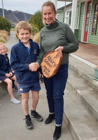 Albury school house shield