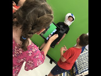 Green screen creations, thanks parent council!