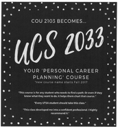 Need a Fall 2017 elective? Consider our Career Planning course (UCS 2033)!