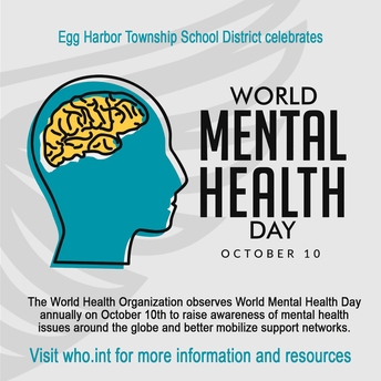 WORLD MENTAL HEALTH DAY-OCTOBER 10th!