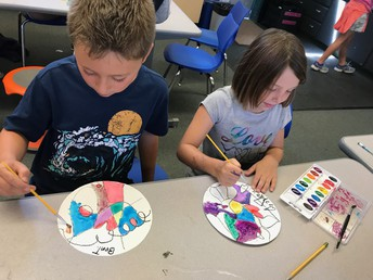 3rd Grade Kandinsky lines and colors