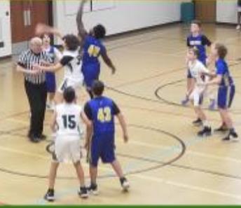 Basketball team game opener