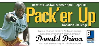 PACK'ER UP DONATION CHALLENGE APRIL 1-30