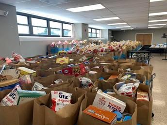 Las donaciones de comidas