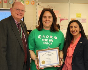 Vannostrand named Teacher of the Month!