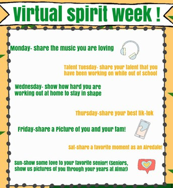 Join Alma Cheer for Virtual Spirit Week