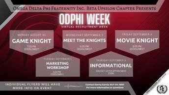 Omega Delta Phi Week
