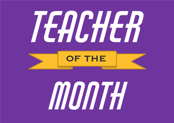 Congratulations to our October Teachers of the Month