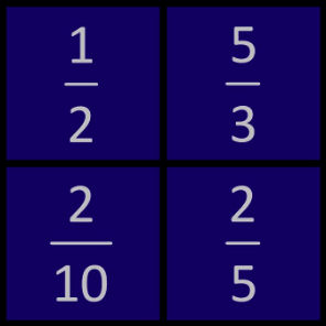 WODB : Which One Doesn't Belong : Fractions