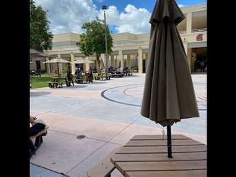 Our Trojan Courtyard During Lunch