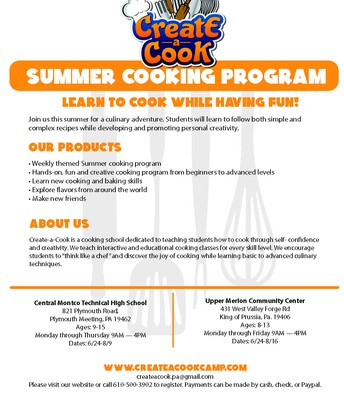 Summer Cooking Program