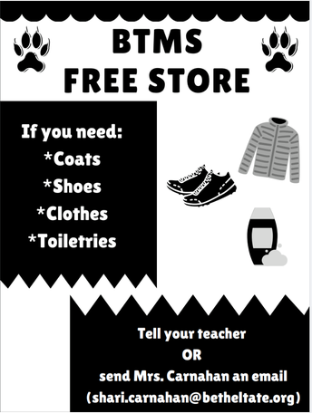 BTMS Free Store Opens
