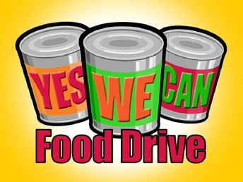 Student Council canned food drive!