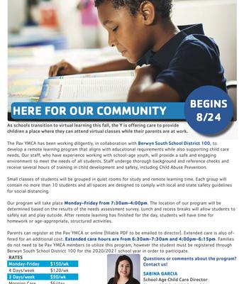 Programa educacional de cuidado de niños YMCA