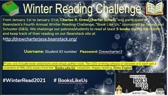 Winter Reading Challenge Jan 1-31, 2021