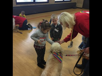 Students Help the Dogs do Tricks!