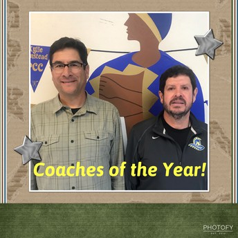 Coaches of the Year!  Martinez and Abad