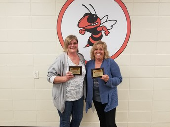 Amy Cottrell (left) & Teresa Harris (right) - 2nd Place - Most Active Trips