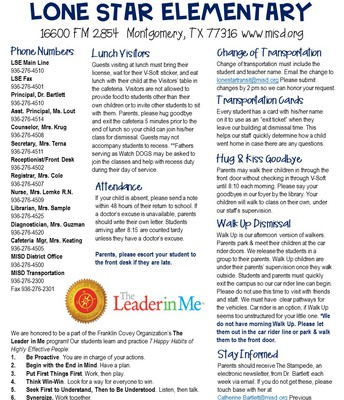 Info Sheet page 1