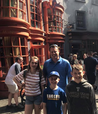 Vacationing at Universal Studios