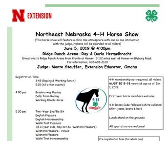 Northeast Nebraska 4-H Horse Show