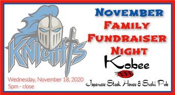 November Family Fundraiser - Kobee 11/18/20