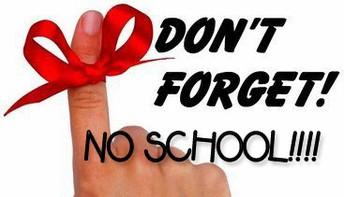 No School Friday, February 15, 2019