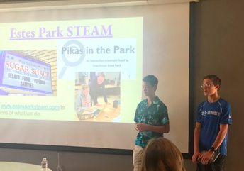 STEAM Class Presents to CASB Board This Fall
