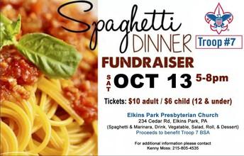 Spaghetti Dinner Fundraiser Troop 7 BSA