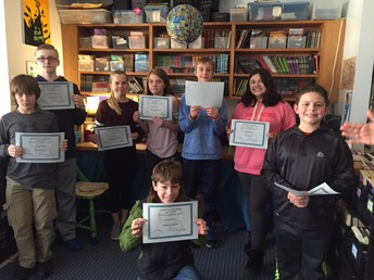 6th grade Perfect Attendance Awards for February 2018