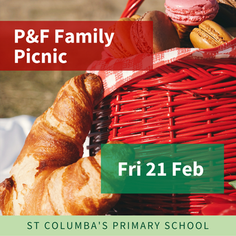Save the date for P&F Picnic: Fri 21 Feb