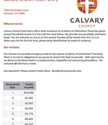 Calvary Church Food Pantry