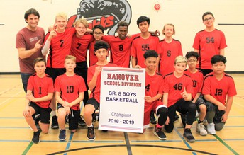 Grade 8 Boys - Champion Team!