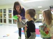 Mrs. Heckler gives Kindergartners keys to reading
