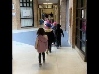 Using directional arrows as we move throughout the school