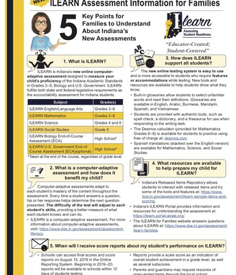 NEW State Assessment Info - ILEARN