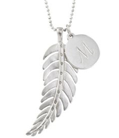Feather Charm (chain/initial not included)- Sale- $11