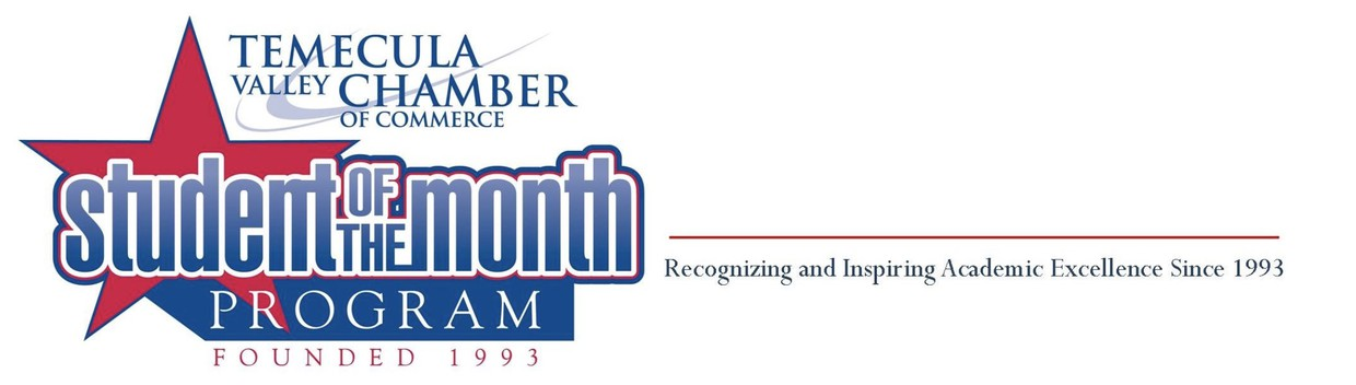 Student of the month logo and website