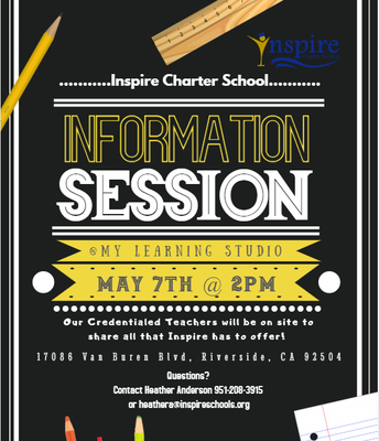Inspire Info Session in RIVERSIDE